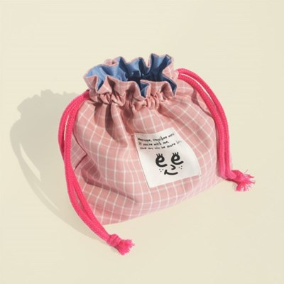 Check string pouch_Pink