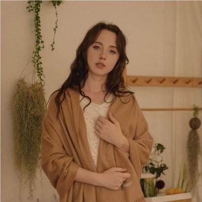 LJ 엘제이캐시미어 숄머플러 카멜숄 /몽골캐시미어100% 여자 목도리