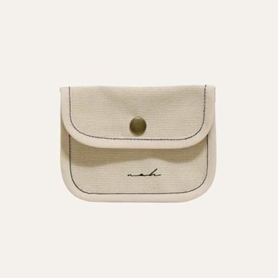 Stitch mini wallet - beige