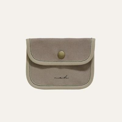 Stitch mini wallet - tan