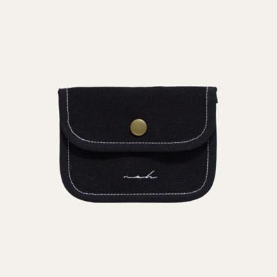 Stitch mini wallet - black