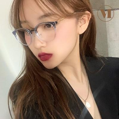 [먼데이룰즈] 100%국산 가벼운 투명뿔테 블루라이트 차단 안경