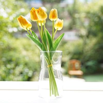 투명 유리 화병 오팔 인테리어소품 꽃병