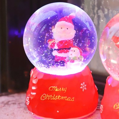 8cm 눈 결정 산타와 눈사람 워터볼 (D.LED 사운드)_(301835212)