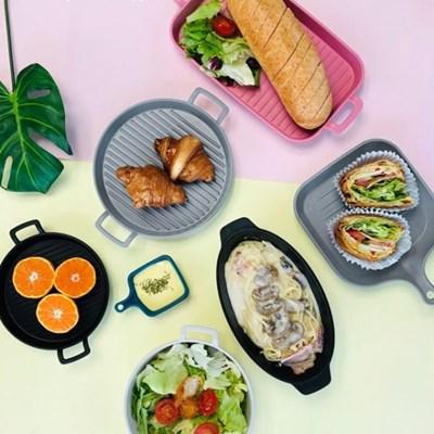 BPA FREE 전자레인지 국내산 그릴 플레이트 디저트 그릇 접시 7type