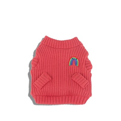 [monchouchou] Rainbow Knit Cardigan_Indian Red
