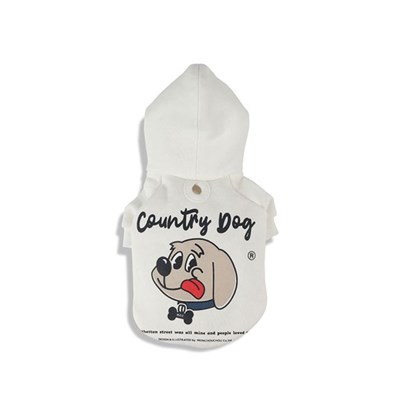 [monchouchou] Country Dog Hoody For Dog_White