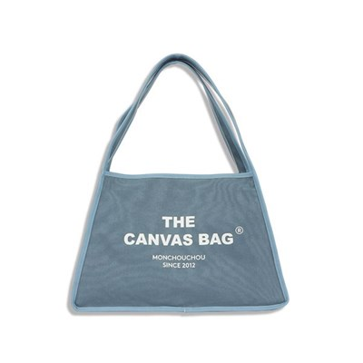 [monchouchou] The Canvas Bag_Ash Blue