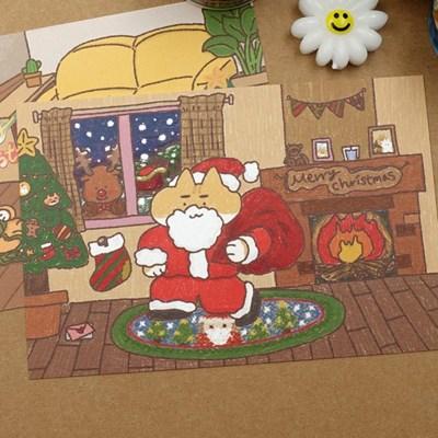 주스 크리스마스 엽서