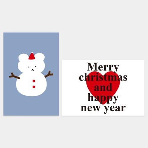 스노우베어 크리스마스 엽서