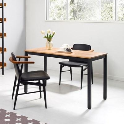 포엠 고무나무 원목 다용도 철제 책상 테이블1200
