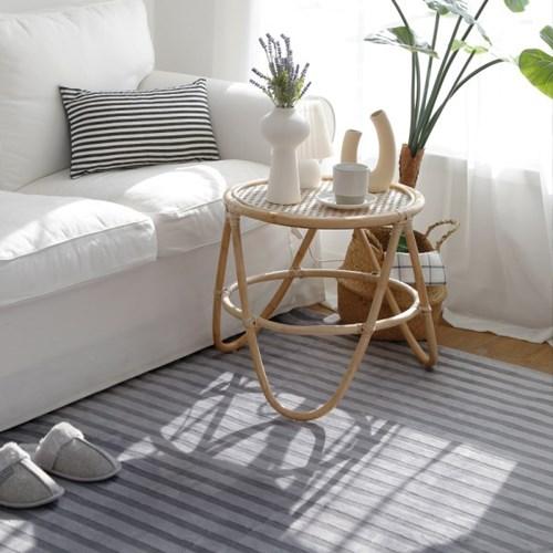 전자파없는 침대 거실 온열 전기매트_스트라이프 100x18_(636925)