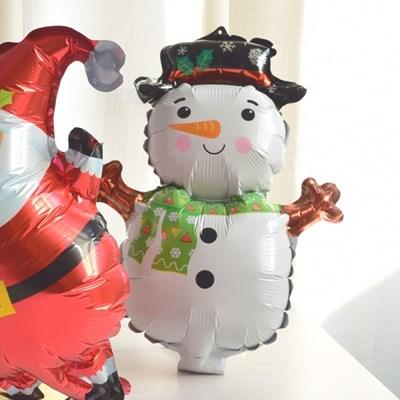 미니 해피 크리스마스 눈사람 호일 풍선