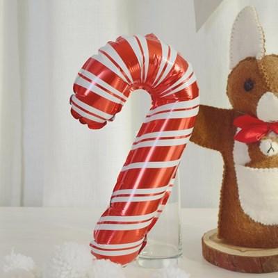 미니 해피 크리스마스 지팡이 호일 풍선