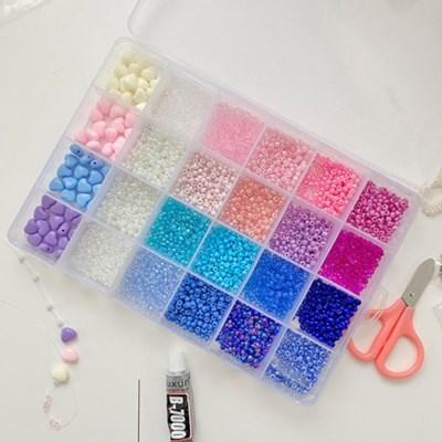 비즈 만들기 세트 DIY 파스텔 키트 24 color_(2443607)