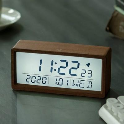 플라이토 우드 브렌치 LCD 탁상시계