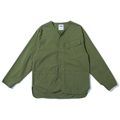 라운드넥 면 야상 코치 자켓 셔츠 봄 가을 남녀공용