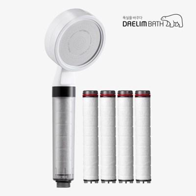 대림바스 디클린 멀티 필터 샤워기 [실속형]+필터 4개입 SET