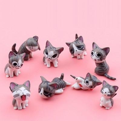 청년토이 9가지 얼굴의 고양이 9종세트+그루터기