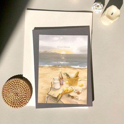 [엽서] 해변의 피크닉 - 감성일러스트엽서