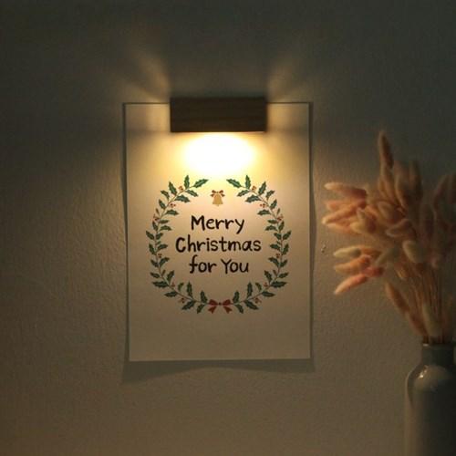 [주문제작]크리스마스 인테리어 포스터 벽등 선물세트