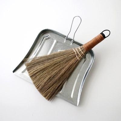 미니 우드 빗자루 / 양철 쓰레받기