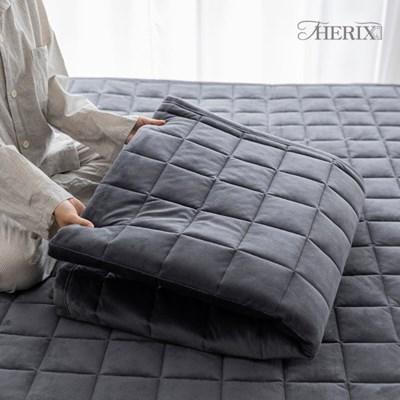 더릭스홈 자가발열 웜매트 겨울 극세사 누빔 침대 패드 퀸(Q)