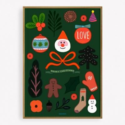 굴리굴리 포스터 Merrry Christmas! (064)