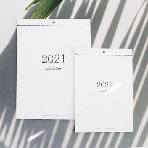 2021년 신축년 월 캘린더 / 친환경 재생지 벽걸이 달력