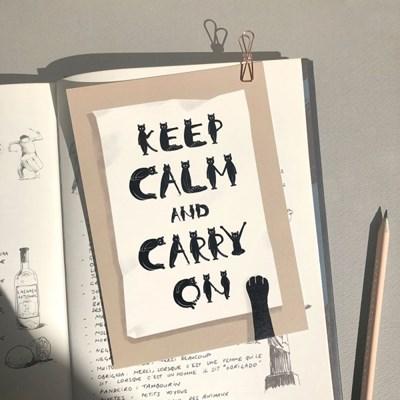 고양이 알파벳 엽서 - keep calm and carry on