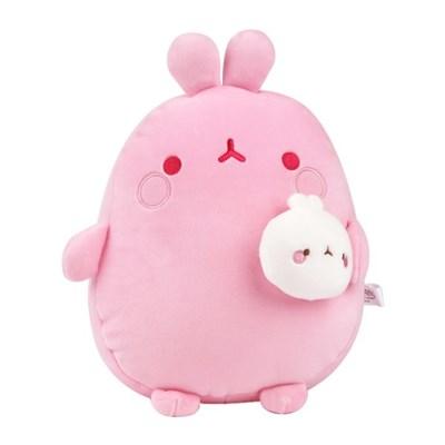 몰랑 피우납작소프트 봉제인형-핑크(25cm)_(100941476)