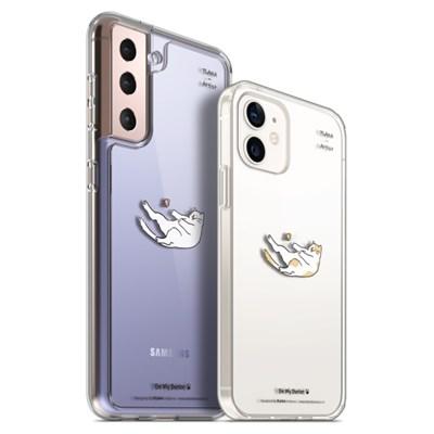 PLANA 뚱냥이 시리즈 갤럭시 S21 플러스 아이폰 12 미니 프로 케이스