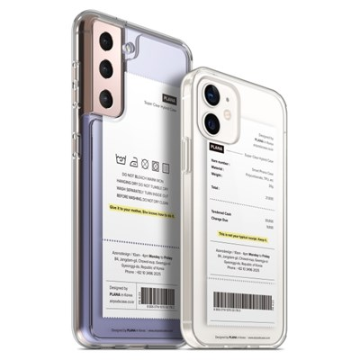 PLANA 라벨 시리즈 갤럭시 S21 플러스 아이폰 12 미니 프로 케이스