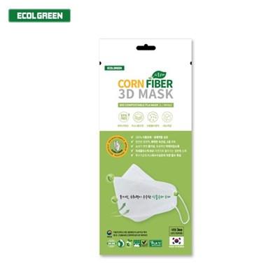 에콜그린 생분해 콘파이버 3D마스크 3매입 친환경