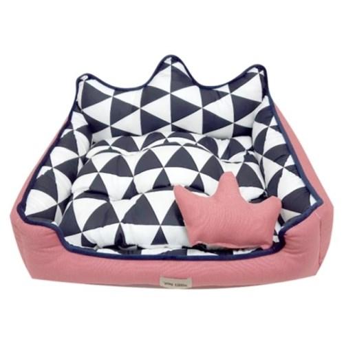 마이 리틀 왕관 침대 핑크 중