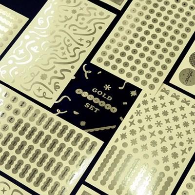 [SET] 기본 스티커 1500 (8종)-골드