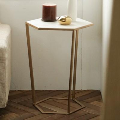 로즈비앙코 헥사 대리석 테이블(L)_(2260953)