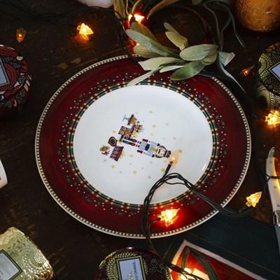 [크리스마스] 넛크래커 8인치 접시_(437139)
