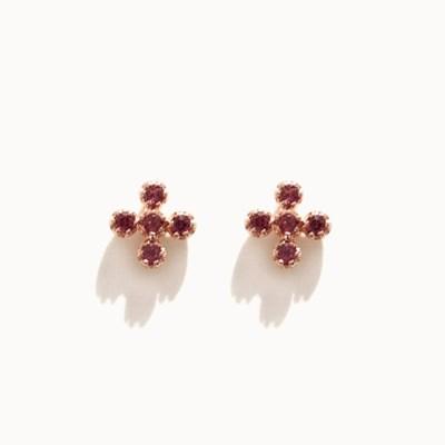 제이로렌 M03454 로돌나이트 십자 귀걸이_(1222814)