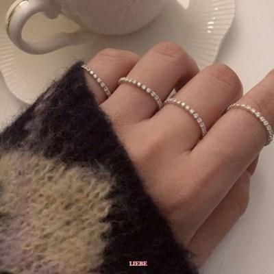 [925실버] 큐빅라인 반지