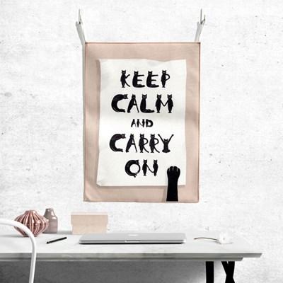 [패브릭 포스터/캔버스 액자] - keep calm and carry on
