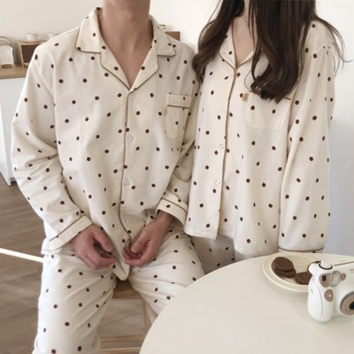 [발렌타인데이] 순면기모 도토리 커플잠옷 파자마