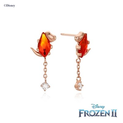 [클루x디즈니] 겨울왕국 브루니 가넷 스톤 실버 귀걸이 CLER20B04PPD