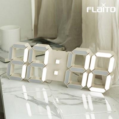 국산 플라이토 LED 벽시계 LG전구 38cm 크림화이트