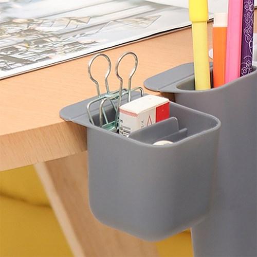 접착식 데스크+모니터 연필꽂이(5.5x5.5cm) (그레이)