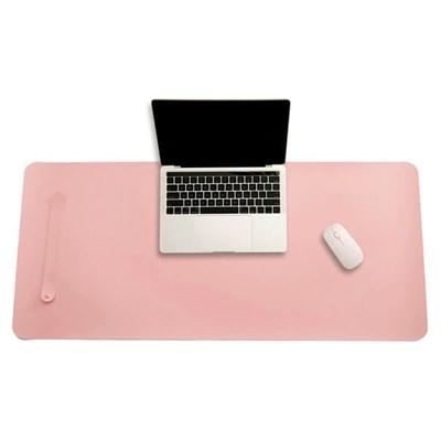 파스텔 휴대용 가죽 데스크 매트(핑크) (70x34cm)