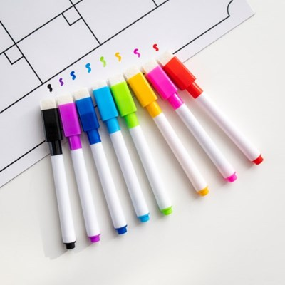 보드마카 마커 얇은 자석 펜 8색 세트 ACC-5801 보우_(3212873)
