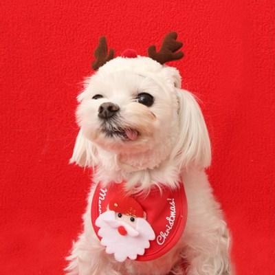 크리스마스 도그 빕 (산타)