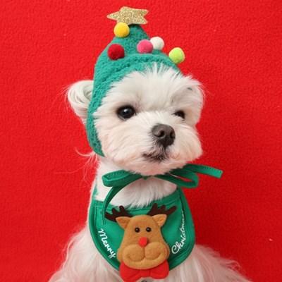 크리스마스 도그 빕 (루돌프)