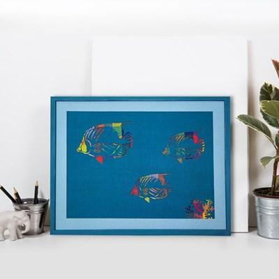 [패브릭피쉬] 액자  나비고기 C1 40x50